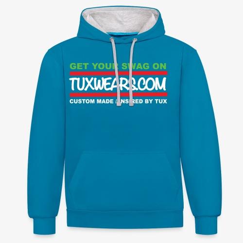 TUXWEARS.COM - Contrast Colour Hoodie