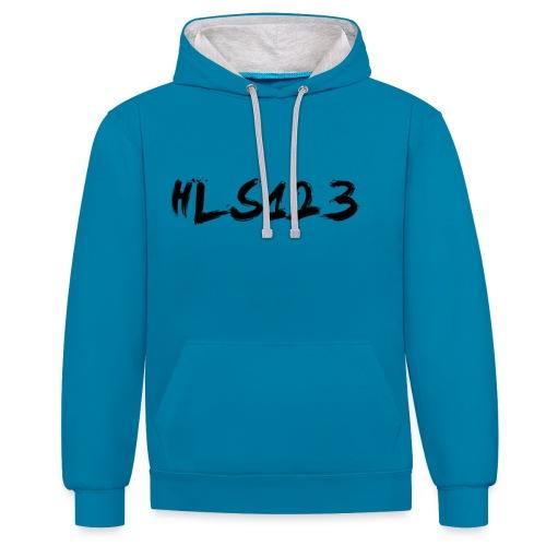 hls123 - Contrast Colour Hoodie