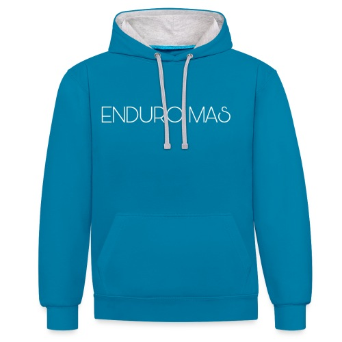 ENDURO MAS TEXTE - Sweat-shirt contraste