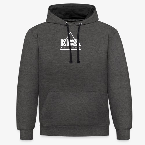 KIWA Satisfiction White - Contrast Colour Hoodie