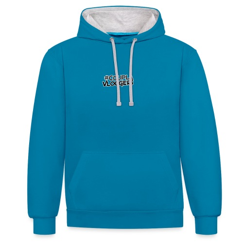 #CouplaVloggers - Contrast Colour Hoodie