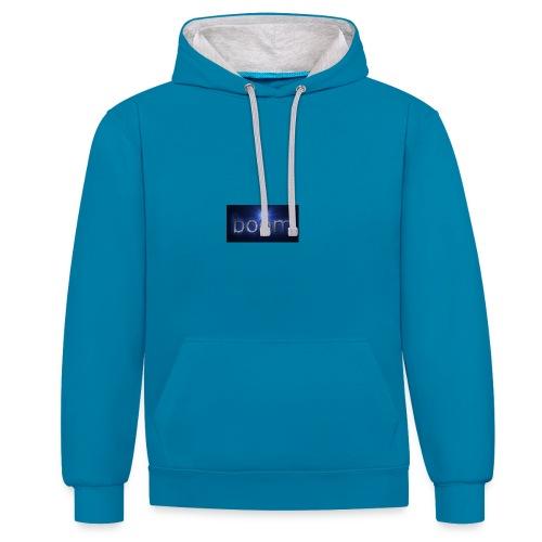 BOOOM - Bluza z kapturem z kontrastowymi elementami