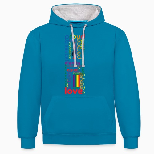 Pride Word Design - Contrast Colour Hoodie