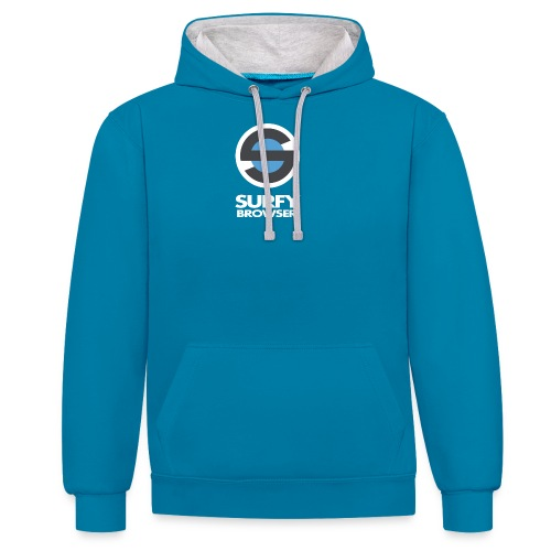 Surfy Browser with Text - Contrast Colour Hoodie