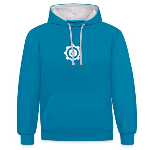 Jebus Adventures Cog White - Contrast Colour Hoodie