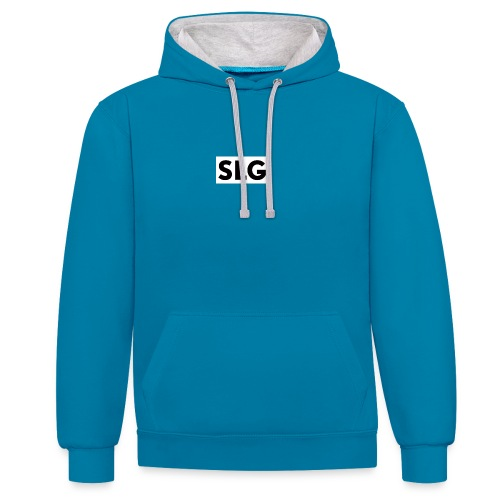slg - Contrast Colour Hoodie