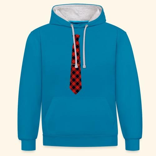 Krawatte 126 mit Goldnadel - Kontrast-Hoodie