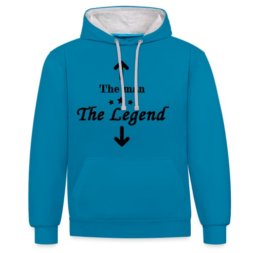 The Legend - Contrast Colour Hoodie