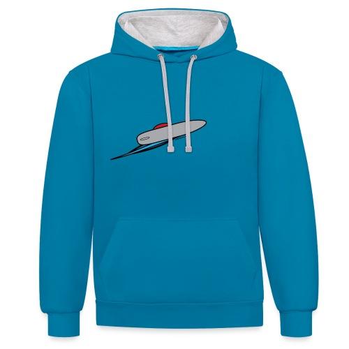 Windsurfer plain - Contrast Colour Hoodie