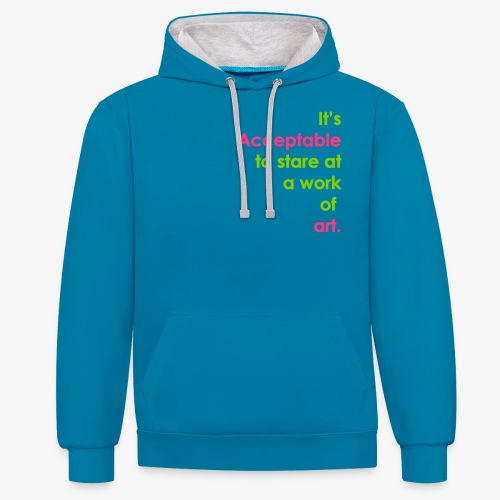 itsacceptable - Contrast Colour Hoodie