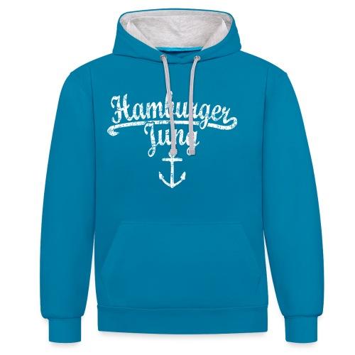 Hamburger Jung Klassik (Vintage Weiss) Hamburg - Kontrast-Hoodie