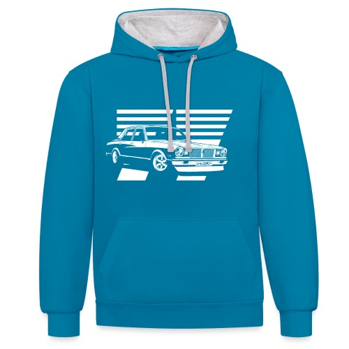 77-white - Contrast Colour Hoodie