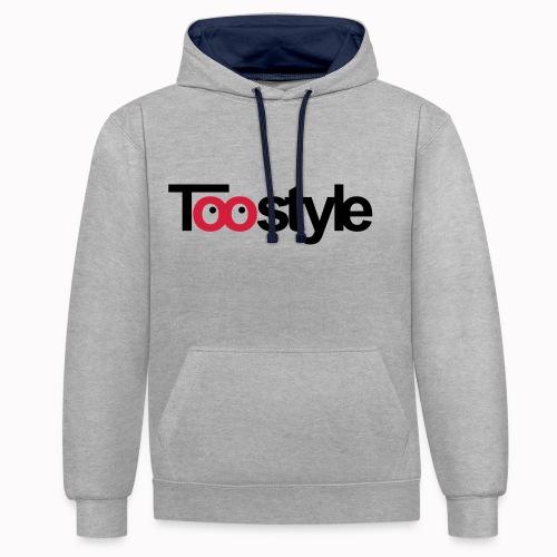toostyle - Felpa con cappuccio bicromatica