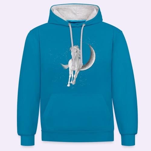 Sternenpferd cover - Kontrast-Hoodie