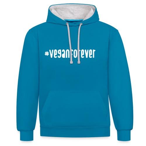 veganforever - Contrast Colour Hoodie