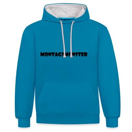 Montagsmonster - Kontrast-Hoodie