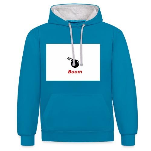 Bomba - Bluza z kapturem z kontrastowymi elementami