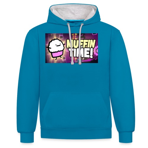 Its Muffin Time 2 - Kontrast-Hoodie