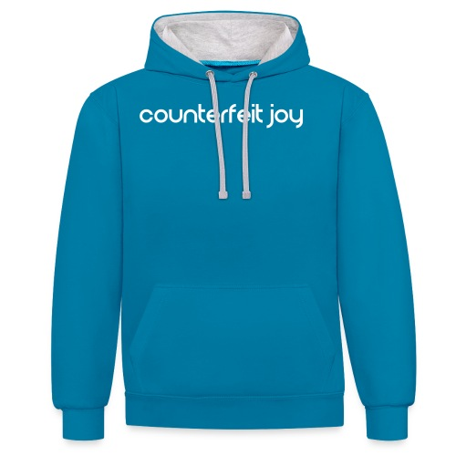 Counterfeit Joy text logo - Contrast Colour Hoodie