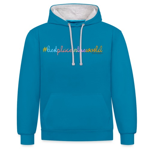 bestplace1 png - Contrast Colour Hoodie