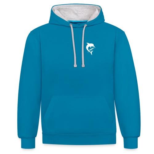 AquaSoft-Logo (Delfin) - Kontrast-Hoodie