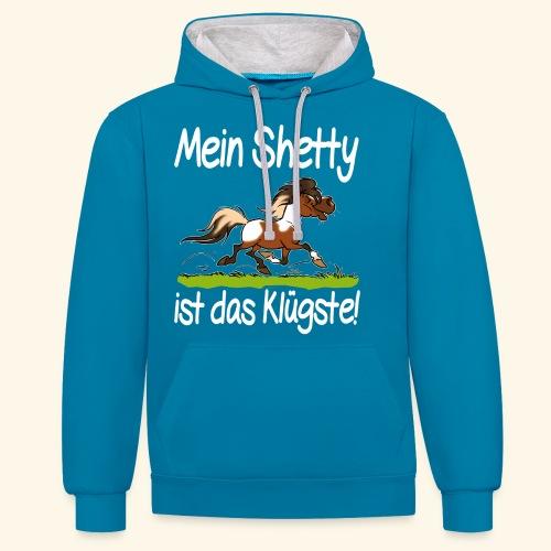 Mein Shetty das Klugste (Text weiss - Sweat-shirt contraste