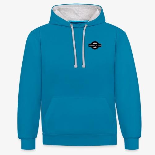 Peppie Plays Logo - Contrast hoodie