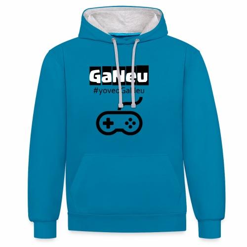 GaNeu - Sudadera con capucha en contraste