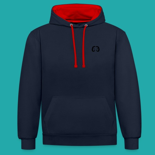 Crowd Control Controller Logo Black Large - Contrast Colour Hoodie