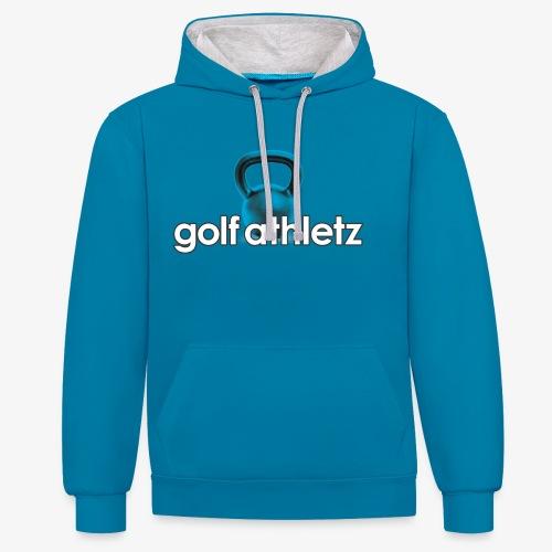 GOLF ATHLETZ - Kettlebell Trainings Sport Motiv - Kontrast-Hoodie