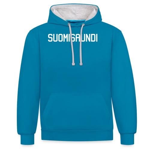 SUOMISAUNDI, hoodie - Kontrastihuppari