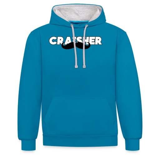 craisher font png - Contrast Colour Hoodie