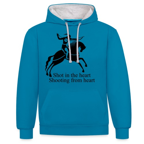 Shot in the Heart - Contrast Colour Hoodie