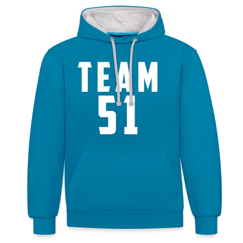 Logo team 51 modern - Sweat-shirt contraste