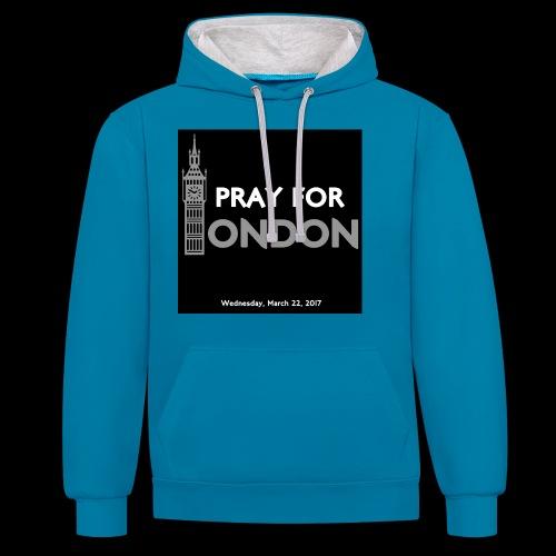 PRAY FOR LONDON - Sweat-shirt contraste