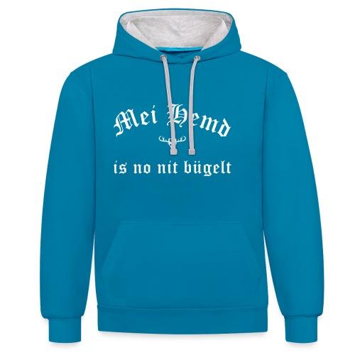 Mei Hemd is no nit bügelt - Hirsch - Kontrast-Hoodie