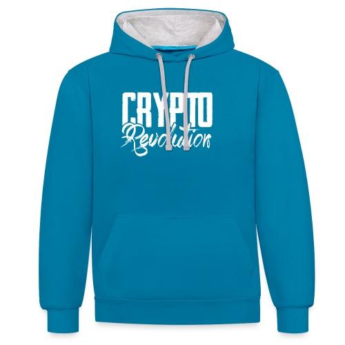Crypto Revolution - Contrast Colour Hoodie