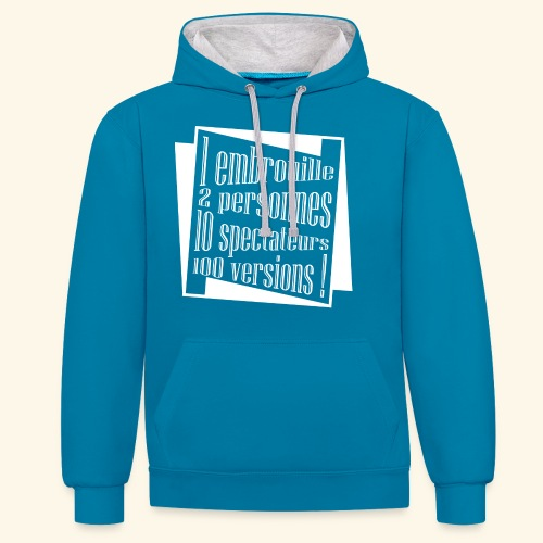 embrouille - Sweat-shirt contraste