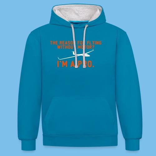 Profi Segelflieger Segelflugzeug gleiten Geschenk - Kontrast-Hoodie