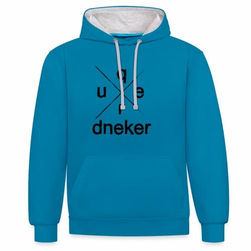 Quer-Dneker - Kontrast-Hoodie