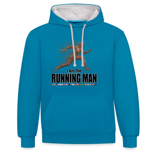 I am the Running Man - Sportswear for real men - Contrast Colour Hoodie