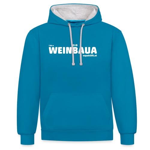 WEINBAUA - Kontrast-Hoodie