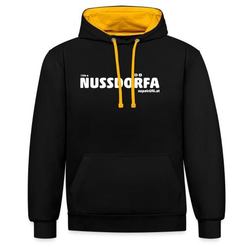 NUSSDORFA - Kontrast-Hoodie