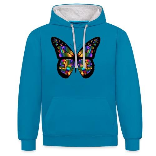 papillon design - Sweat-shirt contraste