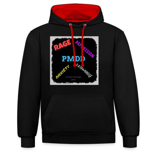 Pmdd symptoms - Contrast Colour Hoodie