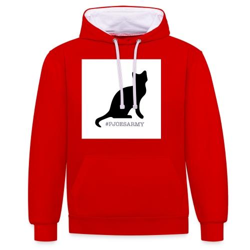 #pjoesarmy met poes - Contrast hoodie