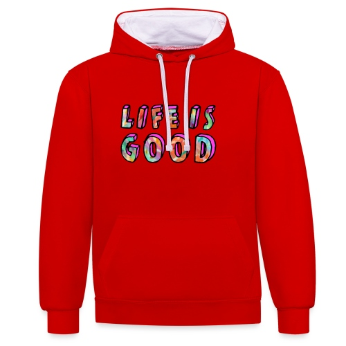 LifeIsGood - Contrast Colour Hoodie
