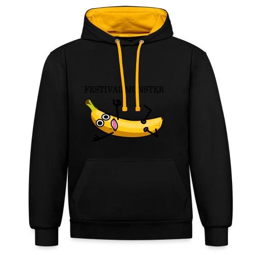 Festival Banane - Kontrast-Hoodie