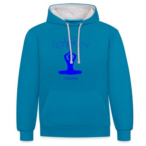 yogatyk blue - Sweat-shirt contraste