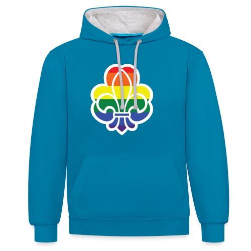 Regnbuespejder jakker og t-shirts mv - Kontrast-hættetrøje
